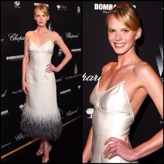 @annev_official: #TWC Pre-Oscars party dress @louisvuitton shoes @jimmychooltd earring @kismetbymilka bracelet @jacobandco #teamannev #annevstyle
