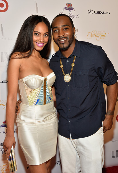 Ariel Meredith and Hakeem Nicks :: Getty Images