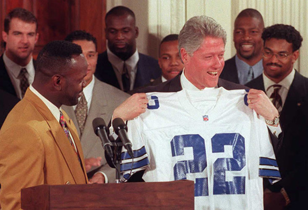 Dallas Cowboys and Bill Clinton (1996) :: Getty Images