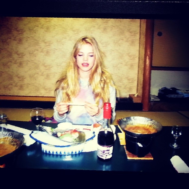 @valerievdgraaf: @valerievdgraaf: Not sure what to think of this traditional japanese food.. fishhead and lots of raw fish... #japan #miyajima