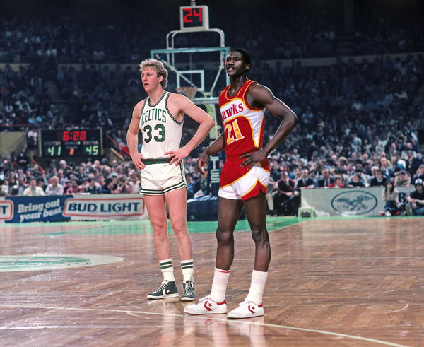Dominique Wilkins and Larry Bird :: Getty Images