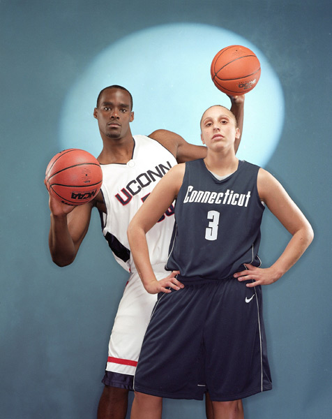 Emeka Okafor and Diana Taurasi (2003) :: Jeffery A. Salter/SI