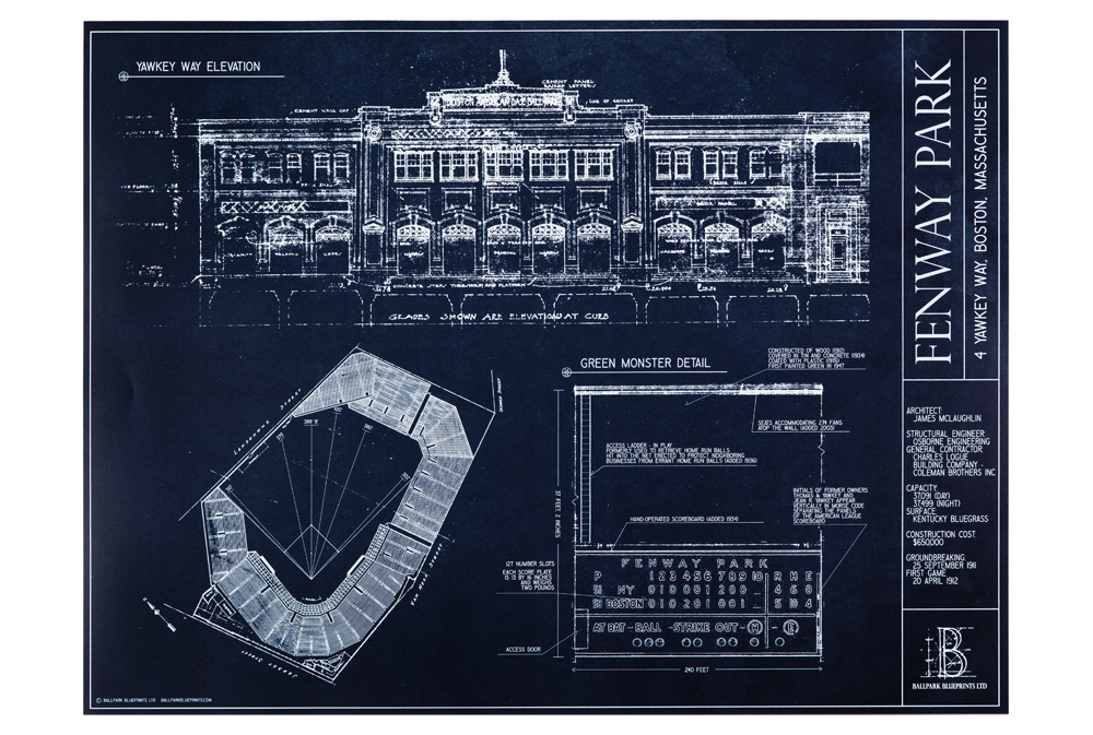 Hand drawn blueprints of famous mlb and nfl stadiums si hand drawn blueprints of famous mlb and nfl stadiums malvernweather Gallery