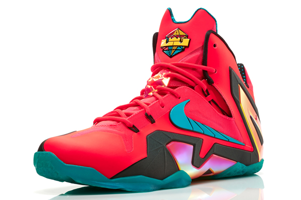 Nike's LeBron 11 Elite Hero sneakers for Heat forward LeBron James. (Nike)