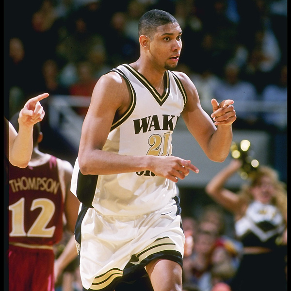 Tim Duncan, Wake Forest (1993-1997).