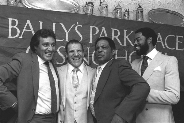 Phil Esposito, Bruno Sammartino, Willie Mays and Walt Frazier, :: AP