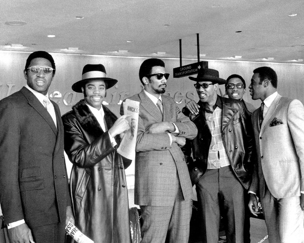 Willis Reed,Walt Frazier, Nate Bowman, Cazzie Russell, and Dick Barnett :: AP