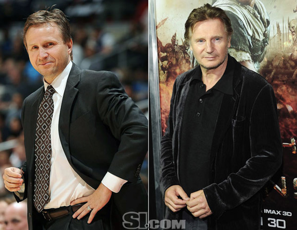 Scott Brooks and                            Liam Neeson :: Getty Images