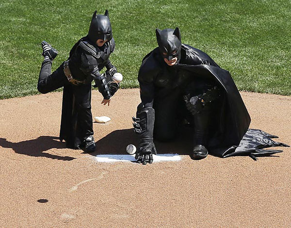 Batkid and Batman :: AP
