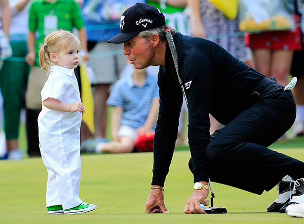 Gary Player and Caddy :: Rob Carr/Getty Images