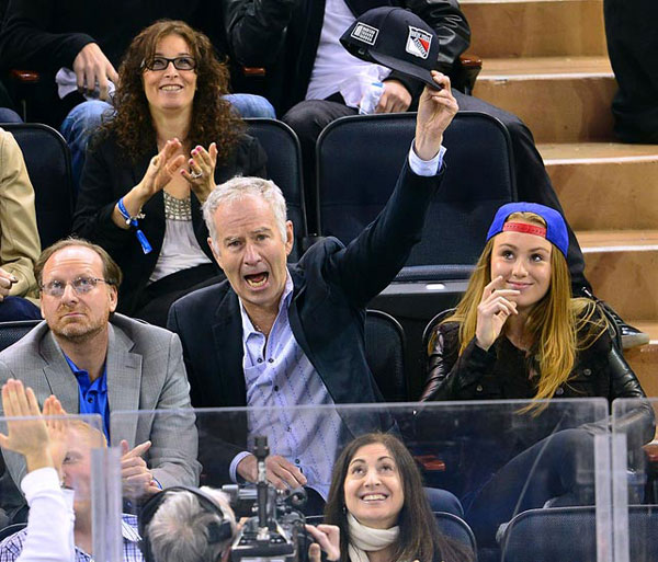 John McEnroe, New York Rangers vs. Philadelphia Flyers :: Getty Images