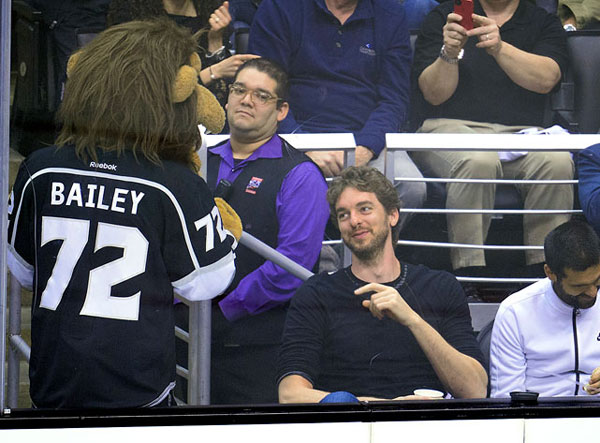 Pau Gasol,                            Los Angeles Kings vs. San Jose Sharks :: Getty Images