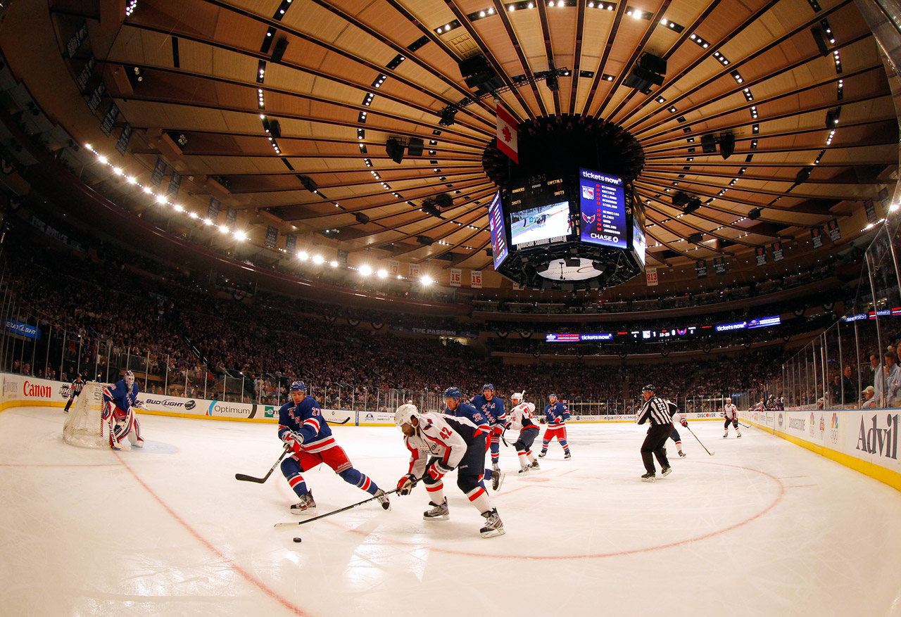 A view of the famed roof in Madison Square Garden.