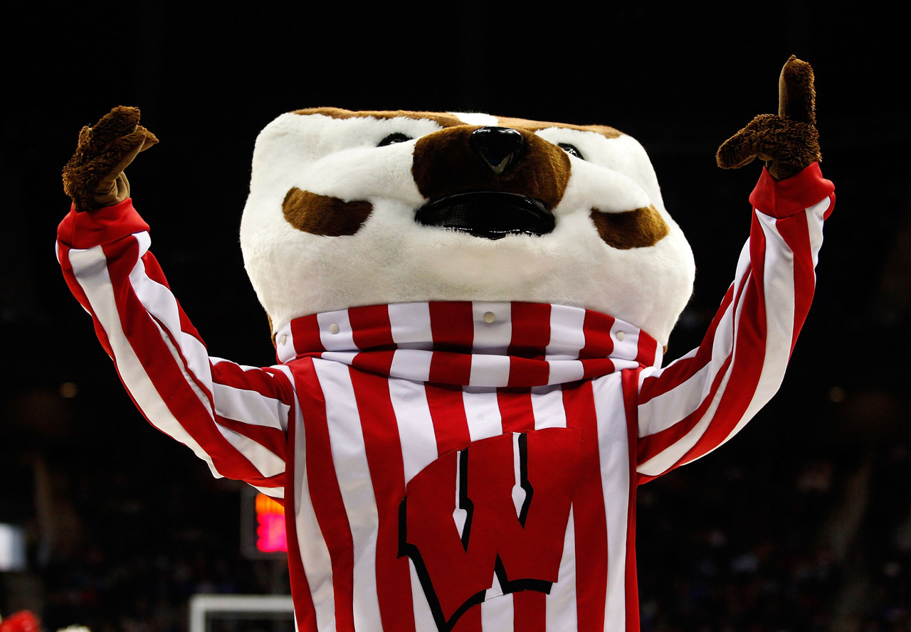 Bucky Badger (photo via Getty Images)
