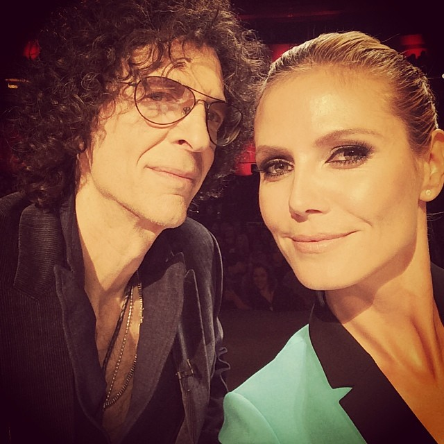 @heidiklum: Another great day of auditions with my friend Howard for @nbcagt