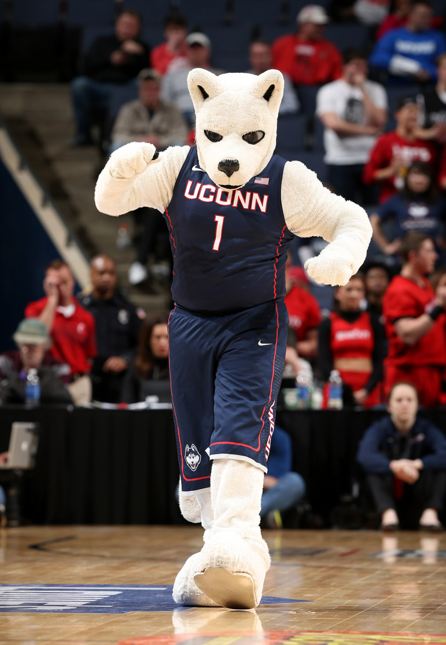 The mascot of the Connecticut Huskies (Photo by Joe Murphy/Getty Images)