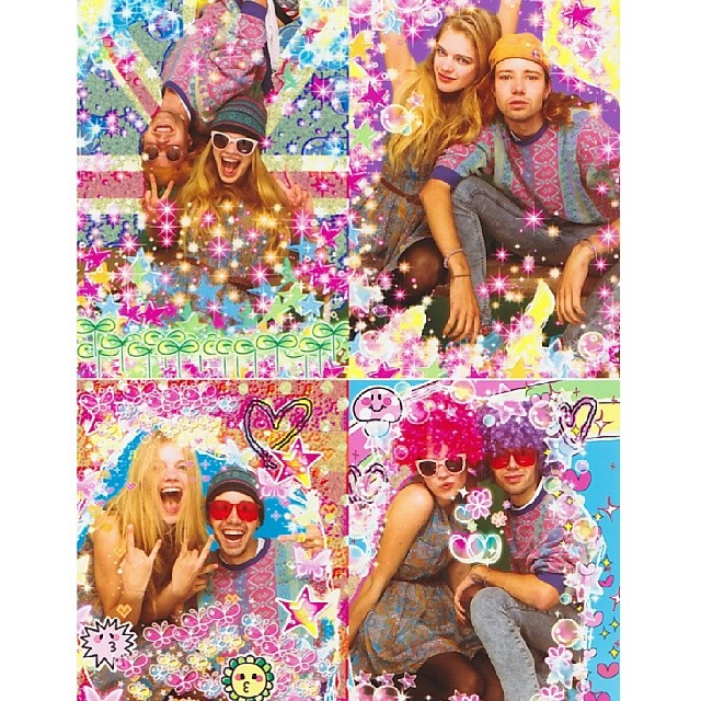 @valerievdgraaf: Photobooth fun with #GrantThomas #photobooth #kawaii #London