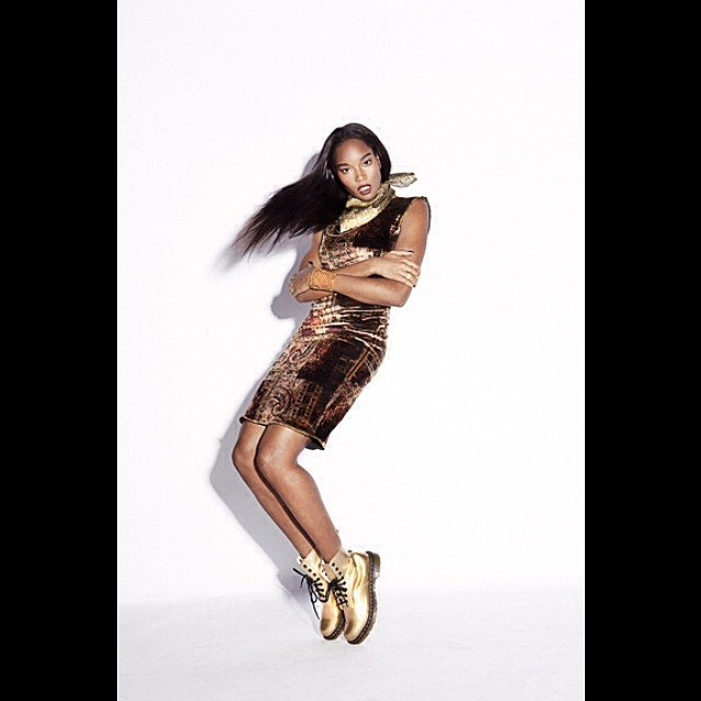 @damarislewis: Sneak peak. New editorial for #NOTOFU Magazine. #GOLD