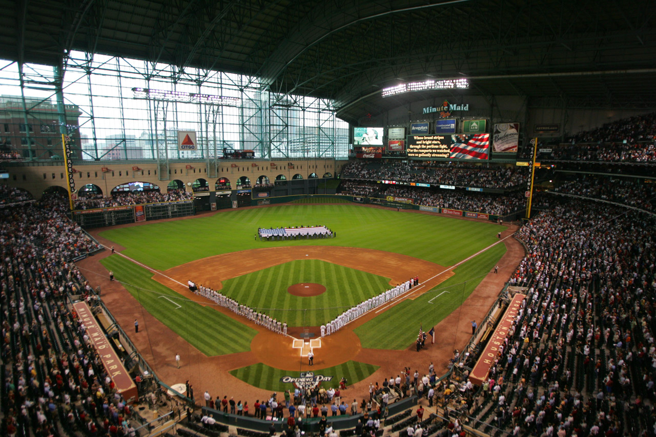 The short leftfield forced the hill into centerfield of Minute Maid Park. (Stephen Dunn/Getty Images)