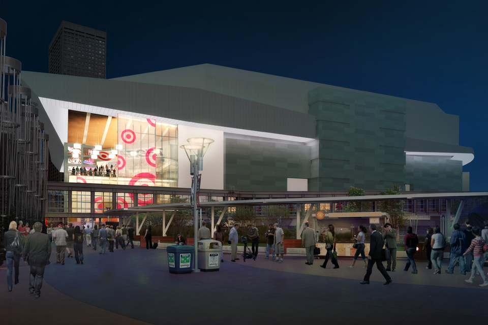 Preliminary Target Center renovation design