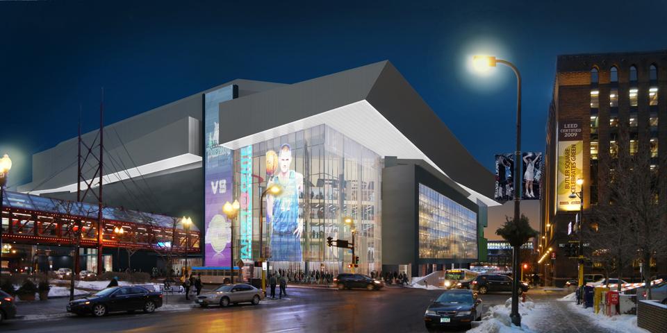 Preliminary Target Center renovation design