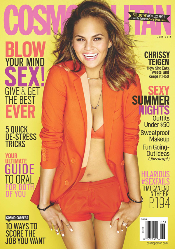 Chrissy Teigen for Cosmopolitan, June 2014 :: cosmopolitan.com