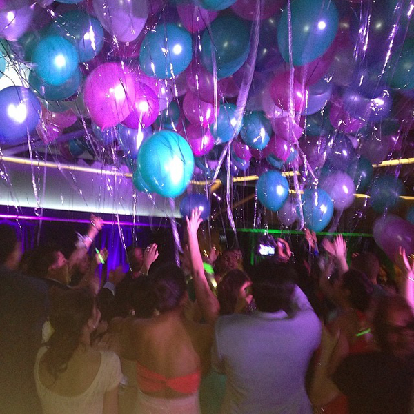 That moment when...a group of kids who barely know each other...come together on their own, join hands, grab balloons and set them free for the last song of our prom. Just WOW