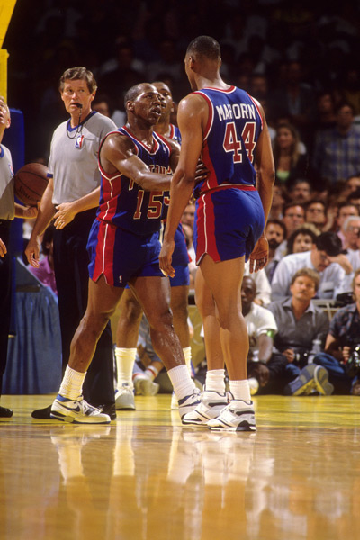 Vinnie Johnson and Rick Mahorn :: Peter Read Miller/SI