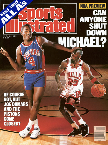 Joe Dumars and Michael Jordan :: Manny Millan/SI