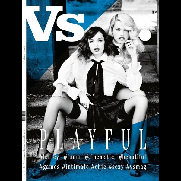 Ellen Von Unwerth for Vs. Magazine (Hailey on right)