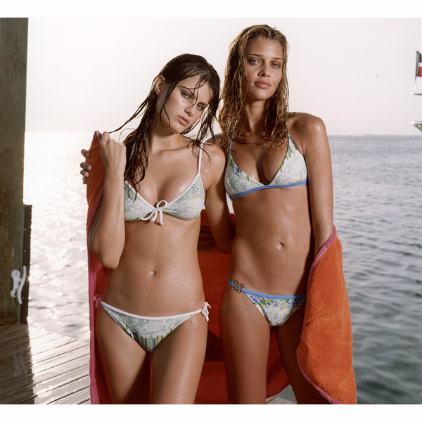With Ana Beatriz Barros in the Florida Keys, 2003 :: Tiziano Magni/SI