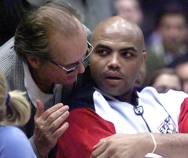 Jack Nicholson and Charles Barkley :: Getty Images