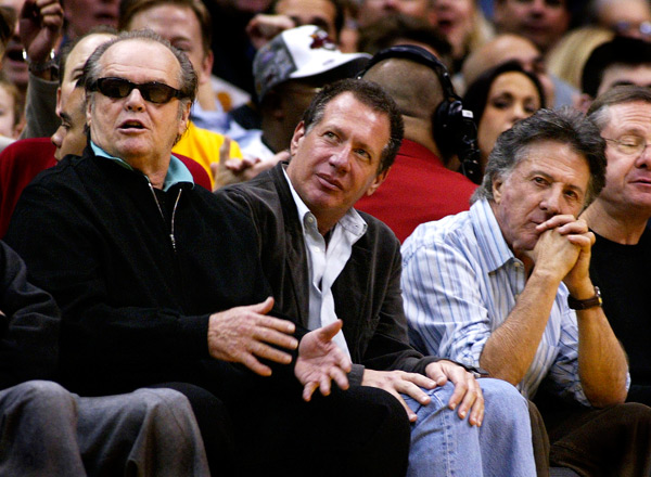 Jack Nicholson, Garry Shandling and Dustin Hoffman :: Getty Images