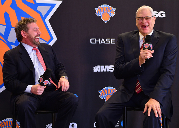 Image result for phil jackson and james dolan