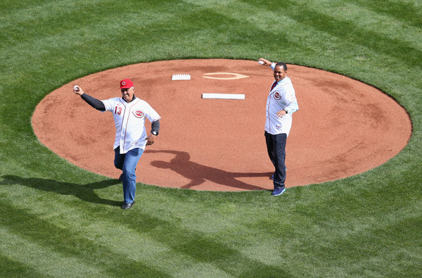 Dave Concepcion and Barry Larkin (Reds) :: Getty Images
