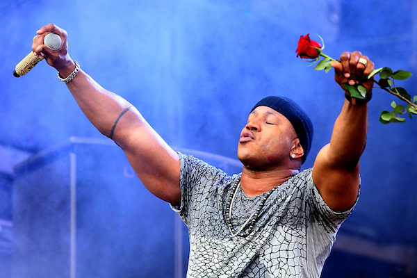 Just LL Cool J's massive triceps during the March Madness music festival.  (WireImage)