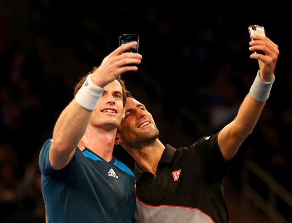 Andy Murray and Novak Djokovic :: Getty Images