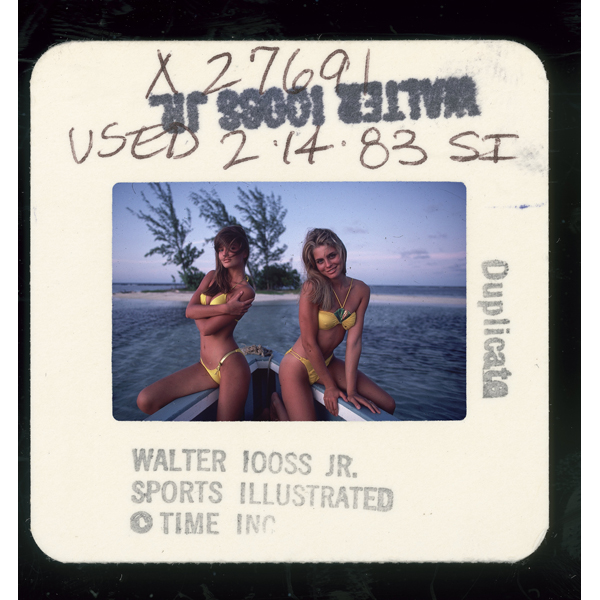 With Kim Alexis in Jamaica, 1983 :: Walter Iooss/SI