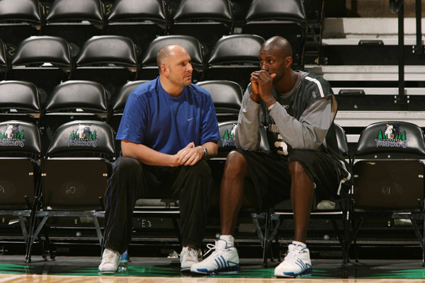 Rex Chapman and Kevin Garnett (2006) :: David Sherman/NBAE via Getty Images