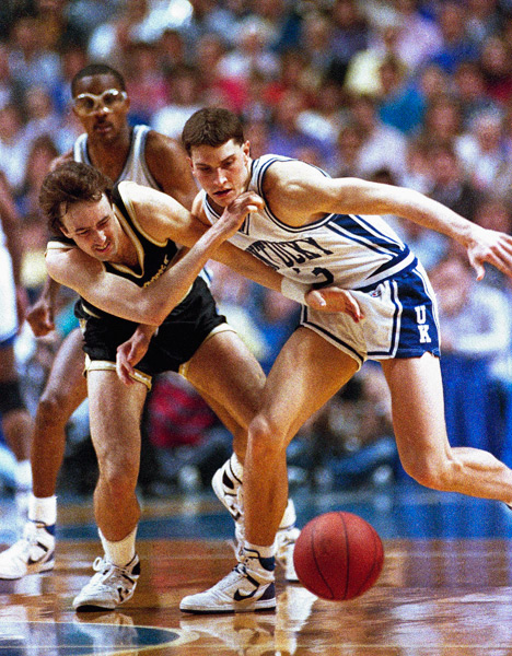 Rex Chapman and Barry Goheen (1988) :: AP