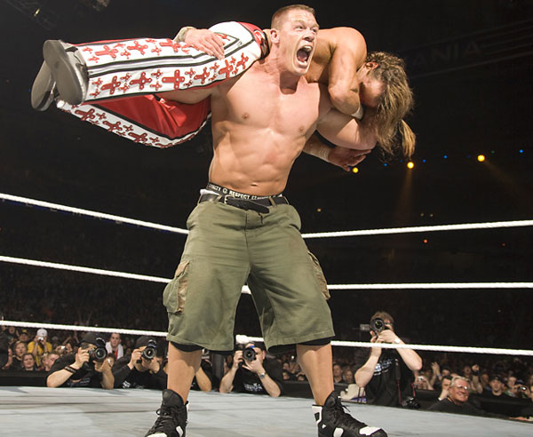 John Cena and Shawn Michaels, WrestleMania 23 :: Courtesy of WWE