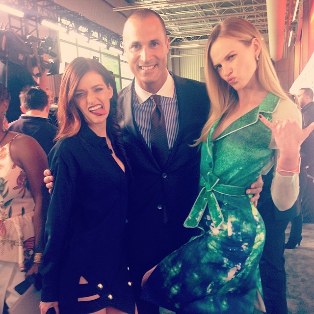 @official_annev with fellow The Face-ers @nigelbarker and @lydiahearst