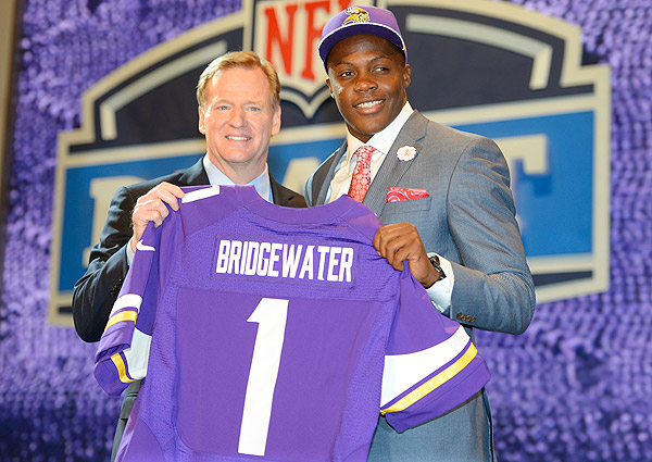 The Vikings traded back into the first round to land QB Teddy Bridgewater.