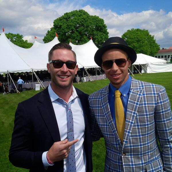 Kingsbury and Steph Curry. (Twitter @TTUKingsbury)