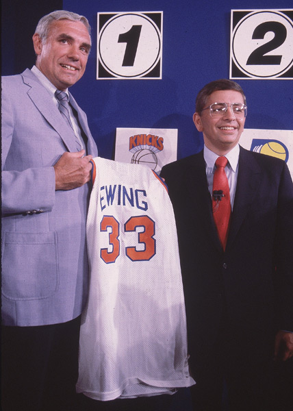 David Stern and Dave DeBusschere, 1985 :: George Tiedemann/SI