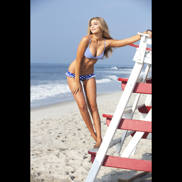 Gigi Hadid at the Jersey Shore, Swimsuit 2014 :: Ben Watts/SI