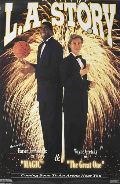 Magic Johnson and Wayne Gretzky :: Courtesy of the Costacos Brothers