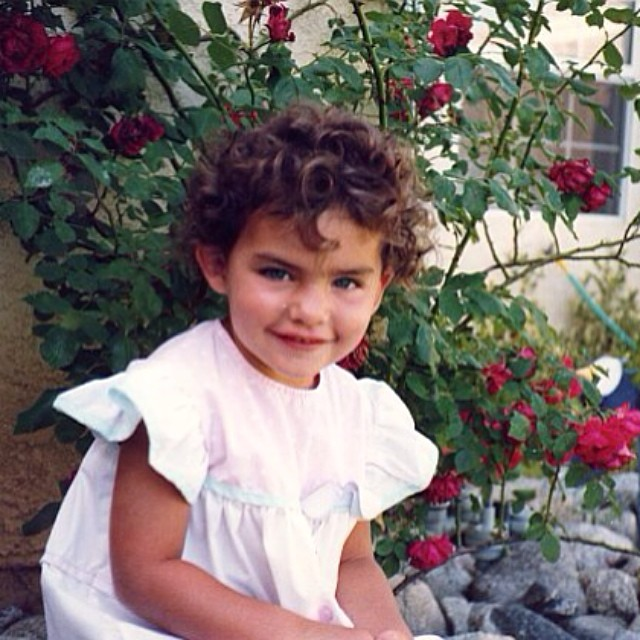 "@luvalyssamiller calls this ""I was a cute little boy"""