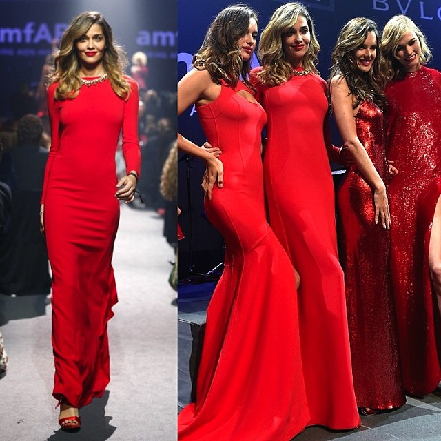 @anabbofficial (Ana Beatriz Barros) lights up the runway alongside Irina Shayk, Alessandra Ambrosio and Karlie Kloss