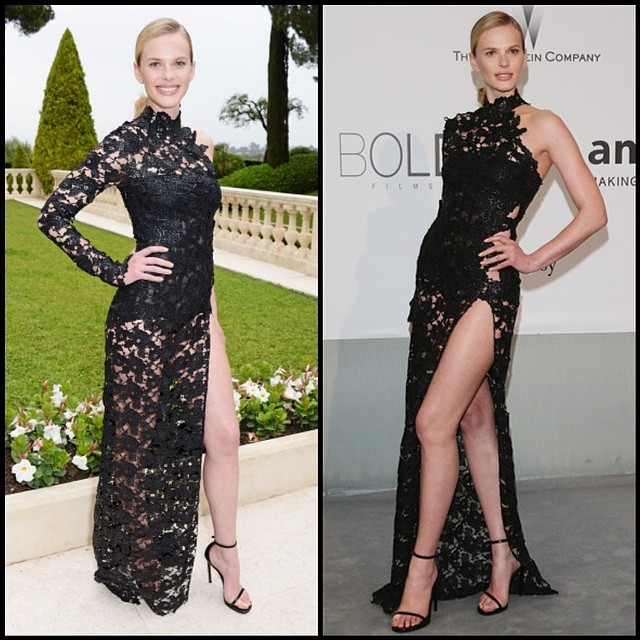@official_annev is gala on the right, party on the left at amfAR